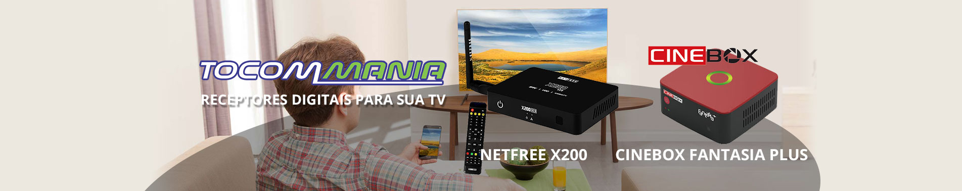 Receptores e Desbloqueadores Netfree x200 Cinebox Fantasia Plus